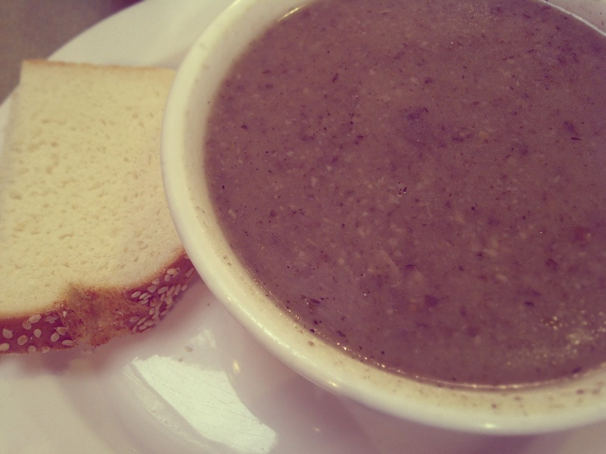 Post-Workout Potassium-Rich Portobello Soup!